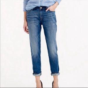 J CREW Size 25 Broken In Boyfriend Jeans